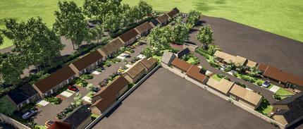 Construction de 32 maisons individuelles pour personnes âgées à ILLIERS L'EVEQUE
