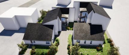 Travaux de ravalement des façades avec isolation thermique par l'exterieur de 23 logements, à Pont Audemer