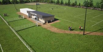 Construction des vestiaires au stade de Pitres